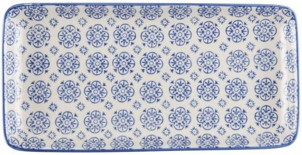 Talerz podłużny CASABLANCA - niebieski | talerze-talerzyki |