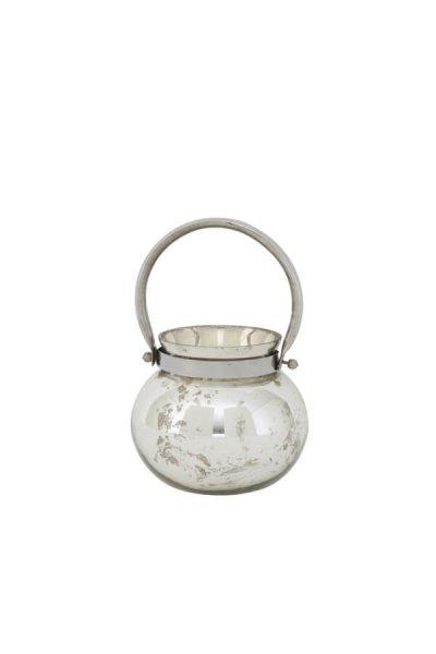 Lampion IBIZA antic silver - mały | dodatki |