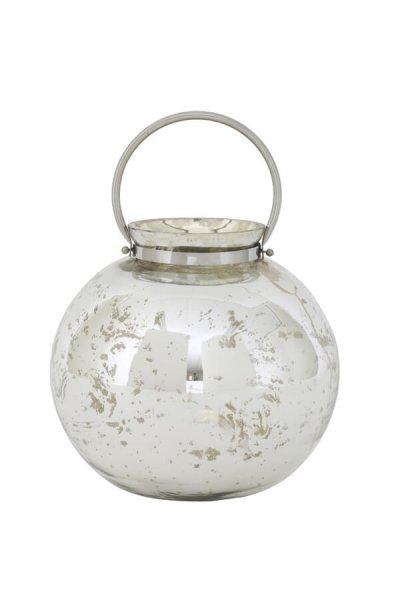 Lampion IBIZA antic silver - duży | dodatki |