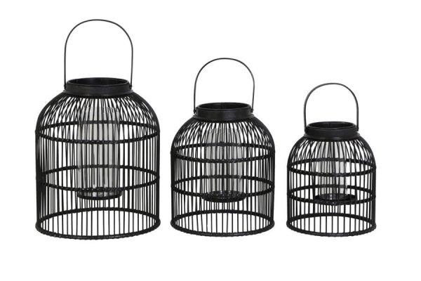 Komplet lampionów NAXOS - czarny | dodatki |