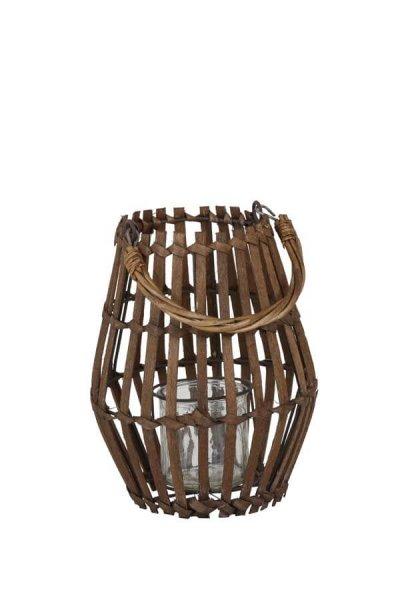 Lampion MYKONOS drewniany - mały | dodatki |