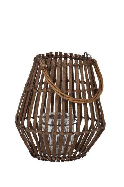 Lampion MYKONOS drewniany - duży | dodatki |