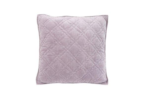 Poduszka welurowa DIAMOND - liliowa | koce-poduszki-pledy |