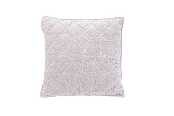 Poduszka welurowa DIAMOND - fiołkowopudrowa | koce-poduszki-pledy |