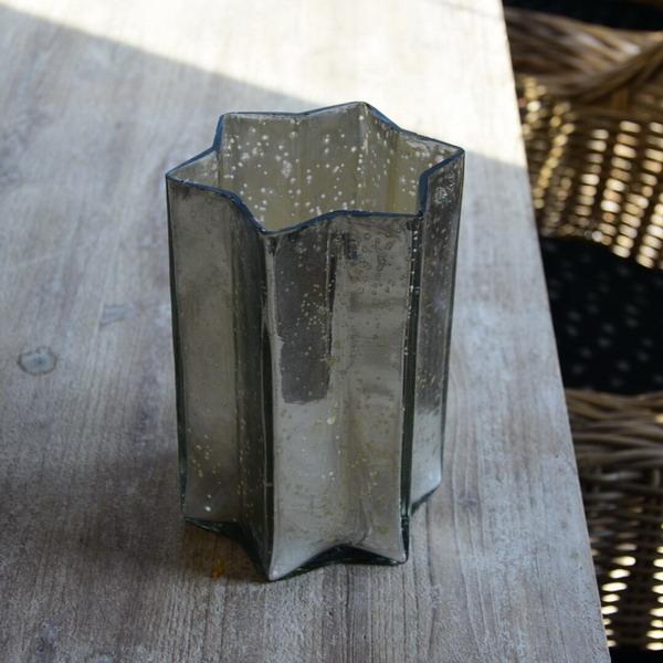 Świecznik GWIAZDA antic silver - duży | boze-narodzenie |