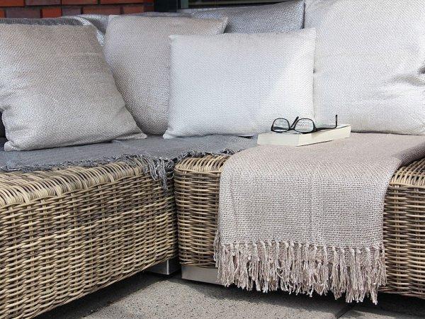 Poduszka GYPSY - beżowa 45/45 | koce-poduszki-pledy |