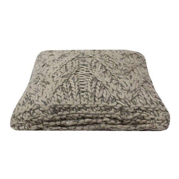 Poduszka KNITTED - beżowa 45/45 | koce-poduszki-pledy |