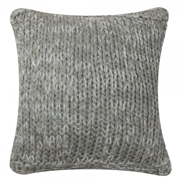 Poduszka KNITTED - jasnoszara 45/45 | koce-poduszki-pledy |