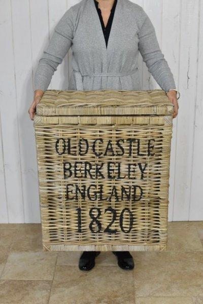 "Kosz rattanowy ""Old castle Berkeley England 1820"" | dodatki |"