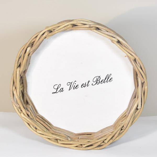 Taca LA VIE EST BELLE - okrągła duża | misy-patery-tace |