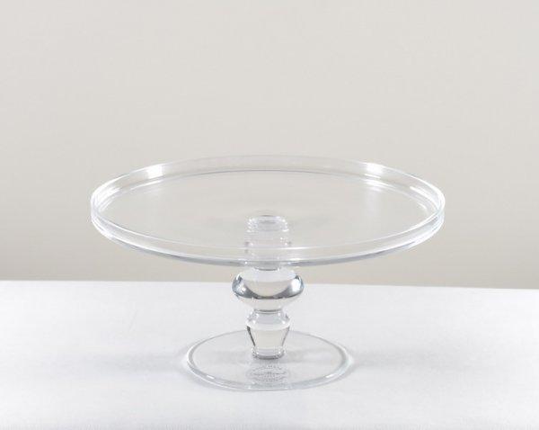 Szklana patera na ciasto - mała | misy-patery-tace |