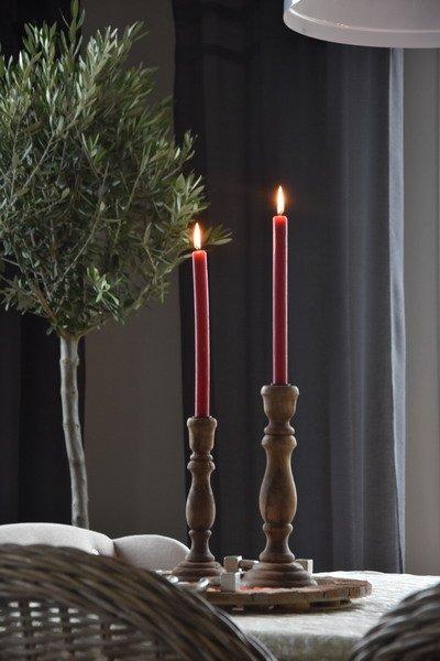 Świecznik RIMINI drewniany - średni | dodatki |