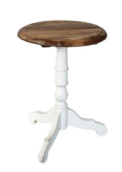 Stolik kawowy -biało-brązowy | stoly-stoliki-krzesla-fotele |