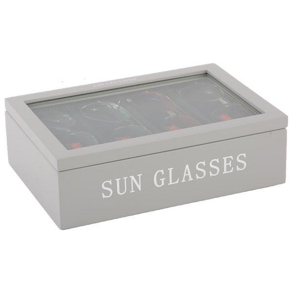 Pudełko na okulary - szare | dodatki |