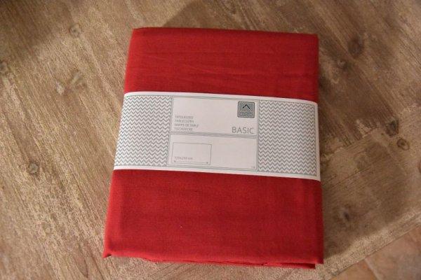 Obrus bawełniany - czerwony 150/250 | boze-narodzenie, obrusy-serwety-serwetki |
