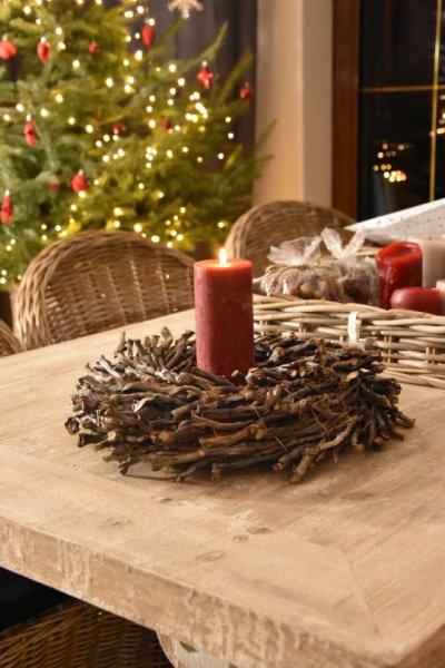 Wianek dekoracyjny jednostronny - 40cm | boze-narodzenie, koszyki-kosze-wianki |