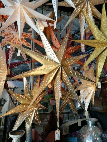 Gwiazda papierowa złota - duża   boze-narodzenie  