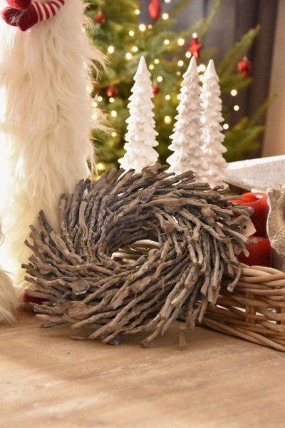 Wianek dekoracyjny jednostronny 30cm   koszyki-kosze-wianki  