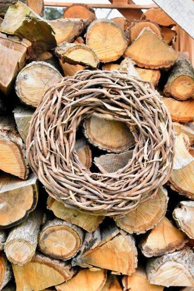 Wianek dekoracyjny pełny - 50cm | koszyki-kosze-wianki |