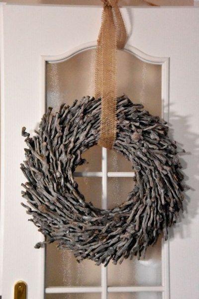 Wianek dekoracyjny na drzwi - 50cm, | boze-narodzenie, koszyki-kosze-wianki |
