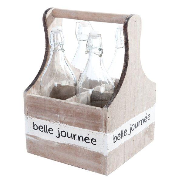 Skrzynka z 4 butelkami | koszyki-kosze-wianki |