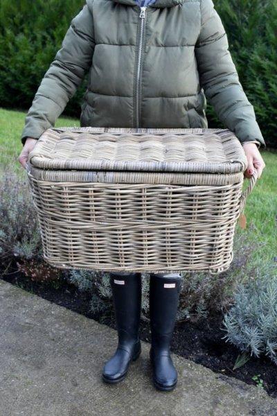 Kufer rattanowy - średni | koszyki-kosze-wianki |