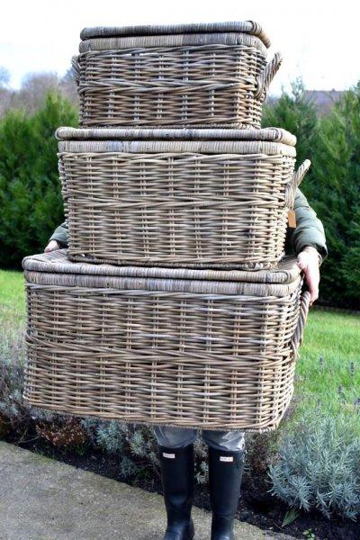 Kufer rattanowy - mały | koszyki-kosze-wianki |