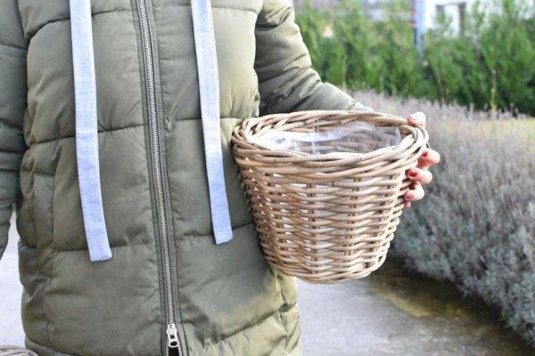 Kosz/Doniczka rattanowa bez uchwytów - D29cm,H20cm, | koszyki-kosze-wianki |