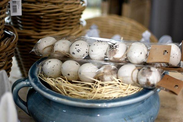 Komplet 6 jaj wielkanocnych do zawieszenia | dodatki |
