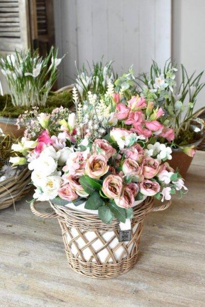 Kwiaty sztuczne - jasnoróżowe - gałązka | dodatki |