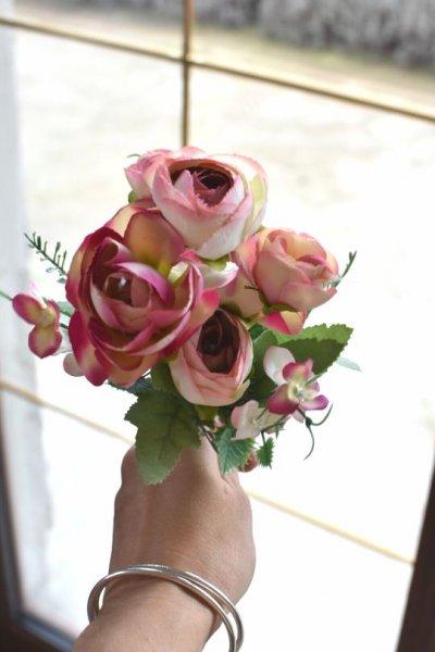 Kwiaty sztuczne - różowe - gałązka | dodatki |