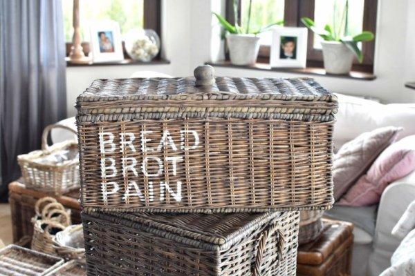 Pojemnik rattanowy na chleb | dodatki |