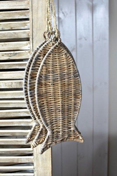Zawieszka rattanowa - ryba   dodatki  