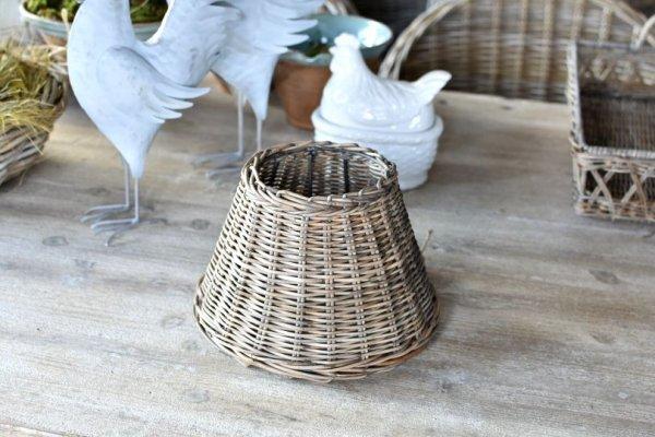 Abażur rattanowy - średnica 25cm | lampy-zyrandole-abazury |