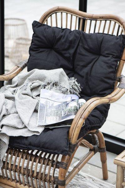 Poduszka na fotel - czarna | dodatki |