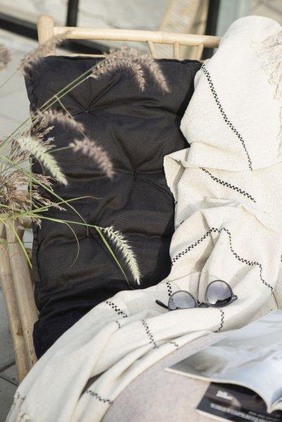 Poduszka na fotel długa - czarna   dodatki  
