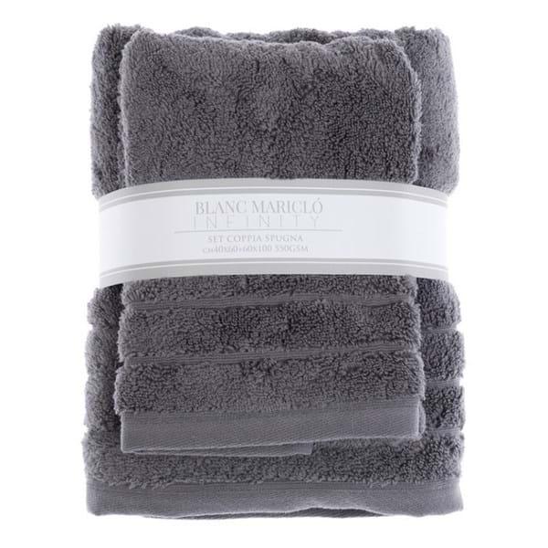Komplet ręczników - szary | dodatki |