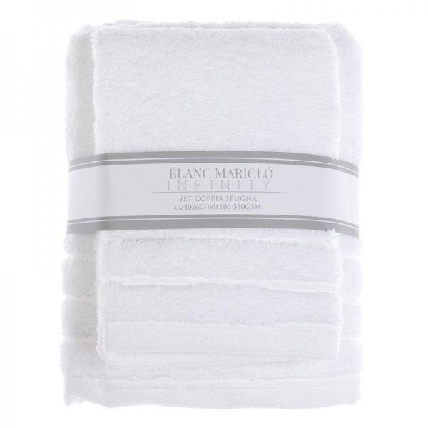 Komplet ręczników - biały | dodatki |
