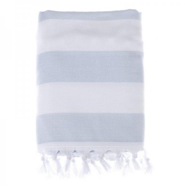 Ręcznik plażowy biało-niebieski 100/170... | dodatki |