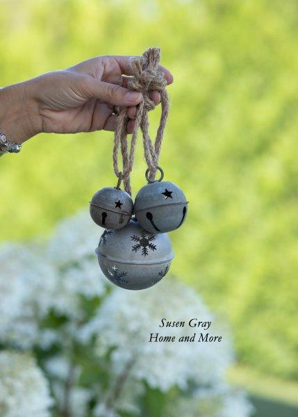 Ozdoba świąteczna/dzwoneczek - postarzały srebrny | dodatki |