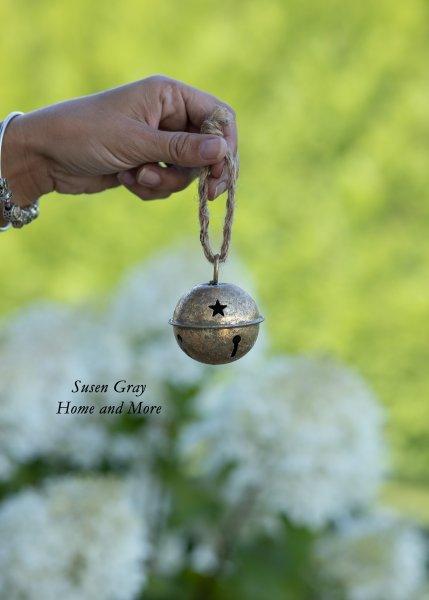 Ozdoba świąteczna/ dzwoneczek - postarzały srebrny | dodatki |
