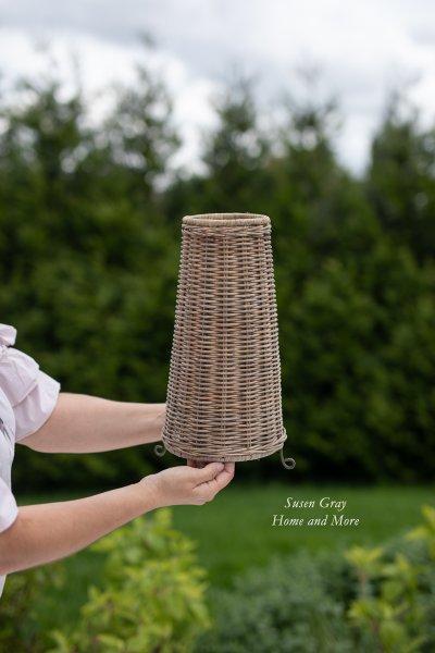 Abażur rattanowy stojący - okrągły | lampy-zyrandole-abazury |