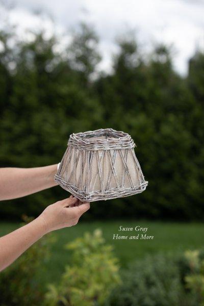 Abażur wiklinowy - kwadratowy do lampy stojącej   lampy-zyrandole-abazury  