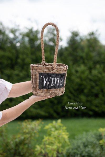 Kosz rattanowy na wino | koszyki-kosze-wianki |