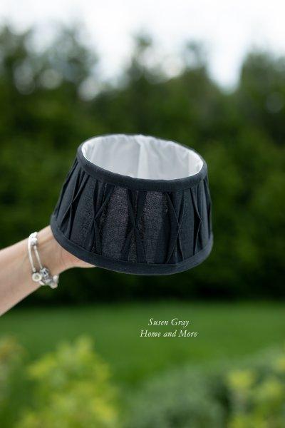 Abażur marszczony D20cm, | lampy-zyrandole-abazury |