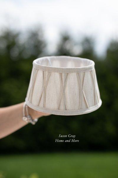 Abażur marszczony D20cm - jasnobeżowy   lampy-zyrandole-abazury  