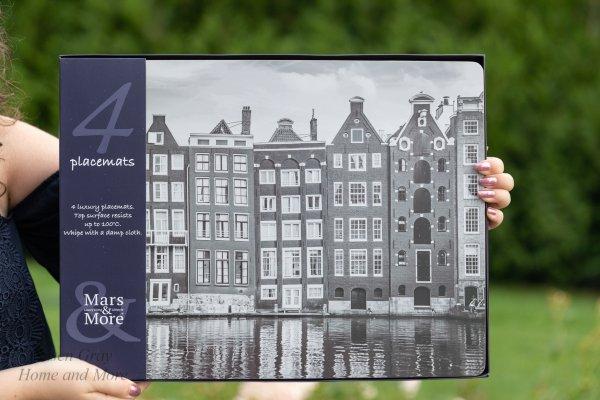 "Komplet 4 podkładek korkowych na stół ""Amsterdam"" | dodatki |"