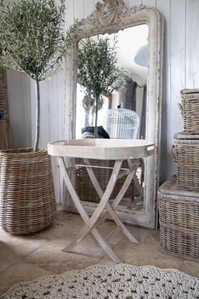 Stolik owalny - białobrązowy | stoly-stoliki-krzesla-fotele |
