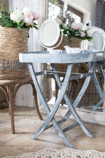 Stolik owalny - szary | stoly-stoliki-krzesla-fotele |