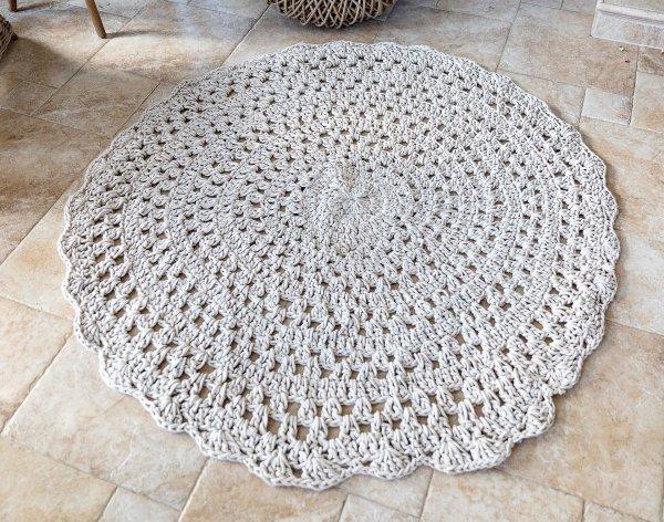 Dywan ręcznie robiony - Ecru | dodatki |